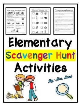Elementary Scavenger Hunt Activities