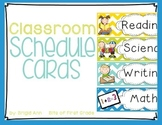 Classroom Schedule Cards