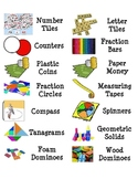 Classroom Supply Labels - Supplies, Math Manipulatives, etc.