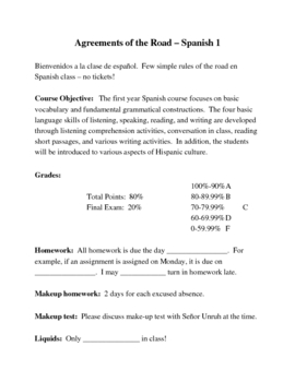 Classroom Syllabus