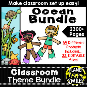 "Classroom Theme Bundle ~ ""Under the Sea"" Ocean Theme"
