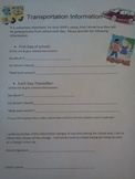 Upper Grades Daily Transportation Form