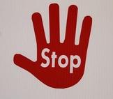 Classroom Visuals Stop/Wait Hands (set of 5)