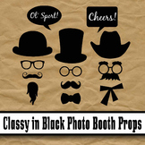 Classy in Black Photo Booth Props - Printable