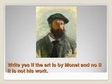 Claude Monet Power Point Assessment