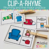Clip-A-Rhyme Rhyming Words Activity