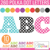 Alphabet - Alphabet MEGA Pack Polka Dot 260 Letters Clipart