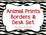 Clip Art: Animal Print Borders & Frames for Commercial Use