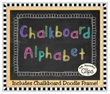 Clip Art - Chalkboard Alphabet (upper & lower case)