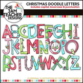 Clip Art: Christmas Doodle Letters - Over 100 Images!