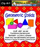 Clip Art Geometric Solids (for Personal and Commercial Use)