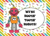 Clip Art - Rootin' Tootin' Robots (includes coordinating papers!)