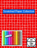 Clip Art - Scratched Paper Collection- White Line - Dollar Deal!