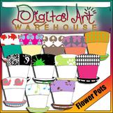 Clip Art: Spring Flower Pots Planters Containers Pot Plant
