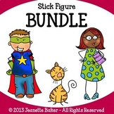 Stick Figure Clip Art Bundle by Jeanette Baker