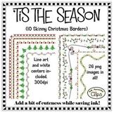Clip Art ~ 'Tis the Season Skinny Christmas Frames - Freeb