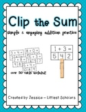 Clip the Sum [Hands-On Addition Center]