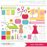 Clipart - Sew Adorable! (Sewing / Tailor / Seamstress)
