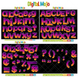 Clipart - Decorative Font, Blend Series 2 Bundle
