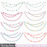 Clipart - Pastel Garlands