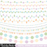 Clipart - Easter Pastel String Lights