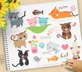 Clipart - Love Cats / Kittens / Pets