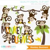 Clipart - Monkey Business (Boy)