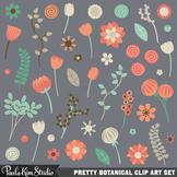 Clipart - Pretty Flowers
