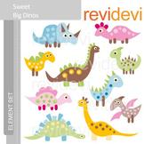 Clipart Sweet Big Dinos E007 (dinosaur clip art)
