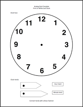 Clock Template - Analog Activity