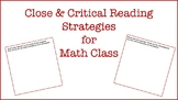 Close & Critical Reading in MATH!