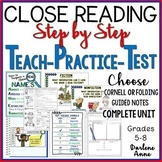 Close Reading: Step by Step Strategies for Success