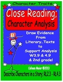 Close Reading; Character Traits - Analyzing Characters
