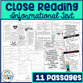Close Reading: Informational Text {Common Core Style}