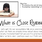 Close Reading Introduction  - EDITABLE PowerPoint Lessons