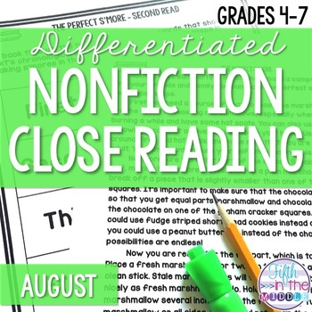 Close Reading - August