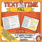 Close Reading Passages and Activities for Fall