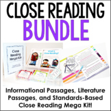 Close Reading Resources Bundle {4th-6th Grade Common Core}