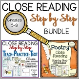 Close Reading: Step by Step Strategies Bundle