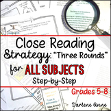 Close Reading Strategy for ELA, Social Studies, Science, and More