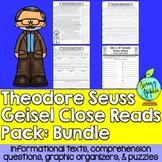Close Reads Pack: Theodor Seuss Geisel Bundle