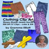 Realistic Clip Art - Clothing - Pants - Short - Jeans - Sh
