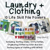 Clothing / Laundry Life Skill File Folders (Special Education)