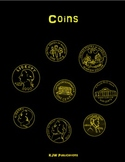 Coin Blacklines -  4 pages -  PDF