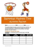 College Basketball Tournament March Activity Bundle