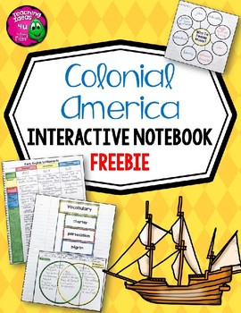 Colonial America Interactive Notebook FREEBIE 5th Grade