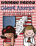 Colonial America Sort {Differentiated Interactive Notebook