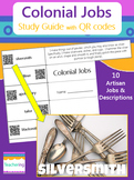 Colonial Jobs Study Guide with QR Codes {Links to Photogra