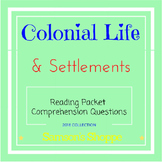 Colonist Packet - English Settlements & Life in Colonies