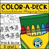 Color-A-Deck: Articulation Playing Cards for R & L